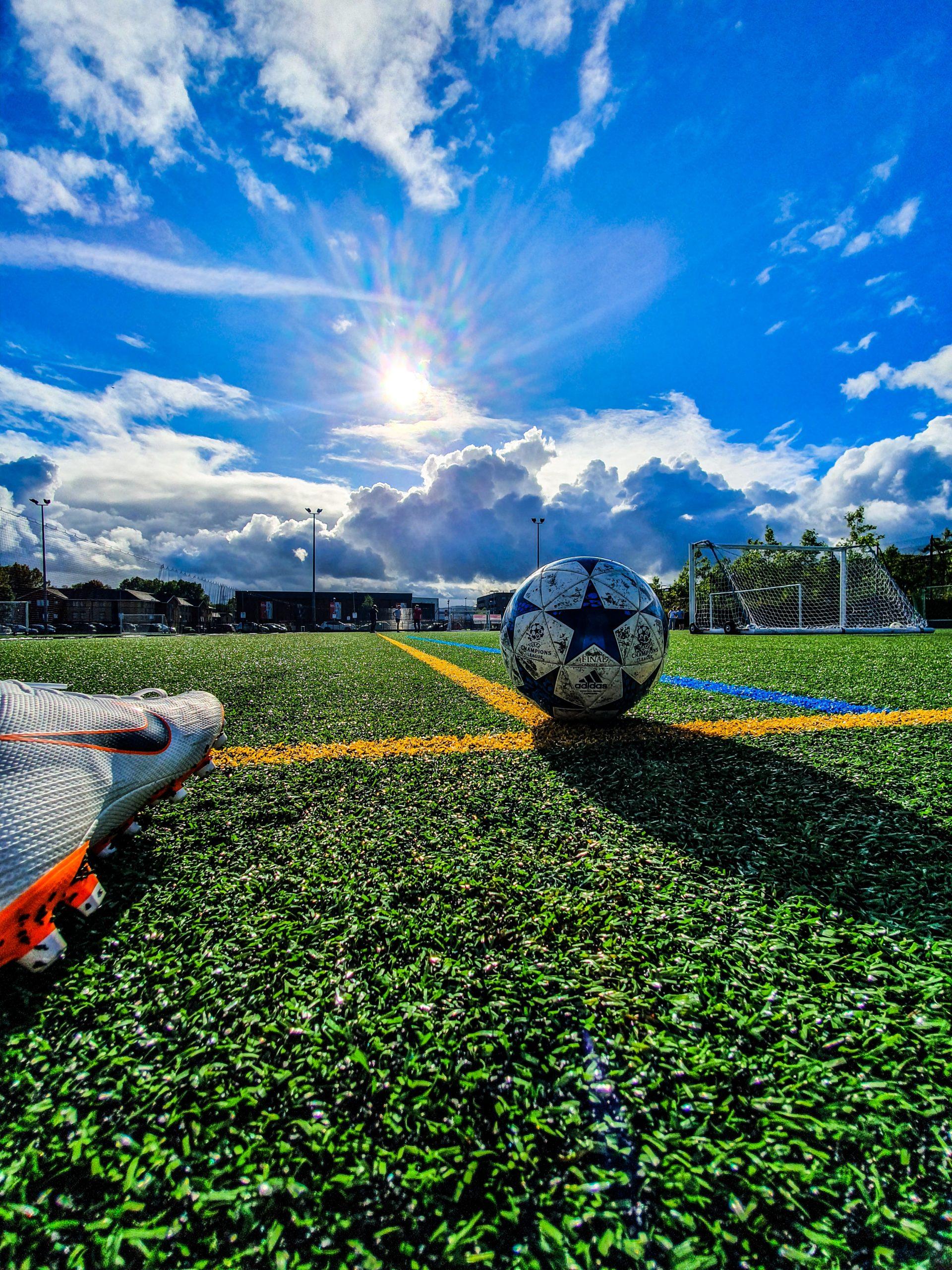 soccer ball football first